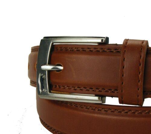 Cintura uomo donna cintura marrone cognac sottili cuciture 2,5 cm Cintura Jeans hrg30y