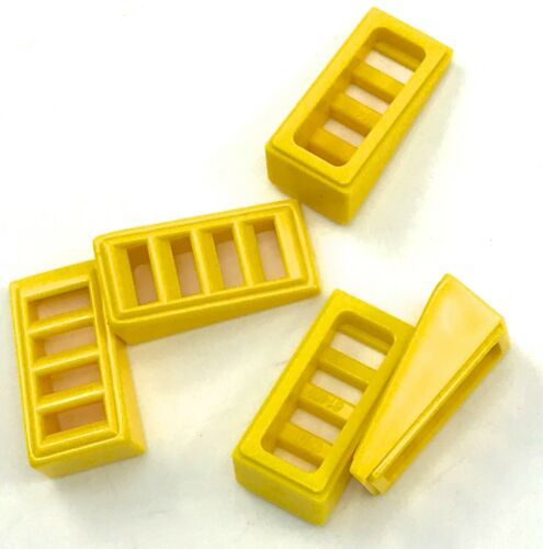 Lego 5 New Yellow Slope 18 2 x 1 x 2//3 with 4 Slots Sloped Gille Pieces