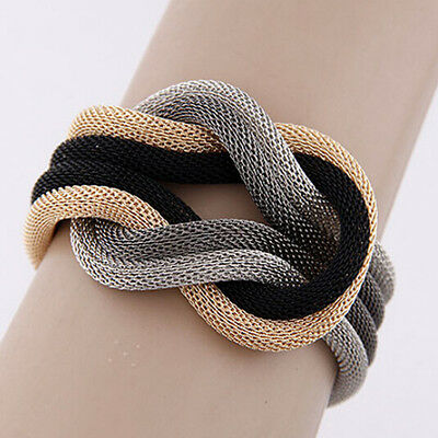 New Fashion Women's Knitted Compilation Wrap Crossover Charm Bracelet Jewelry