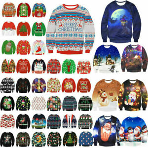 Women-Men-Ugly-Sweater-Xmas-Jumper-Kinitwear-Sweatshirt-Pullover-Tops-T-Shirt