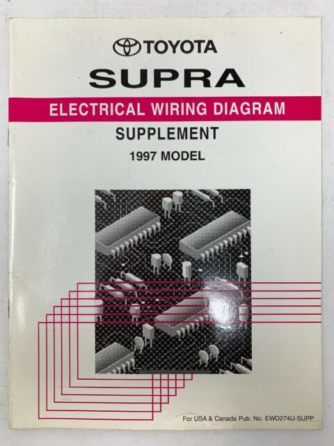 1997 Toyota Supra Supplement Electrical Wiring Diagram Repair Manual