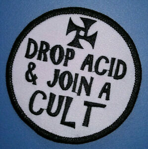 Details about PATCH - Drop Acid and Join a Cult -60s, 70s drug /  exploitation culture  Manson