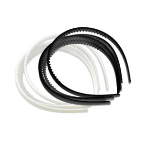 10x-10mm-White-Black-Plain-Plastic-Hair-Band-Headband-Head-Hoop-Womens-Girls