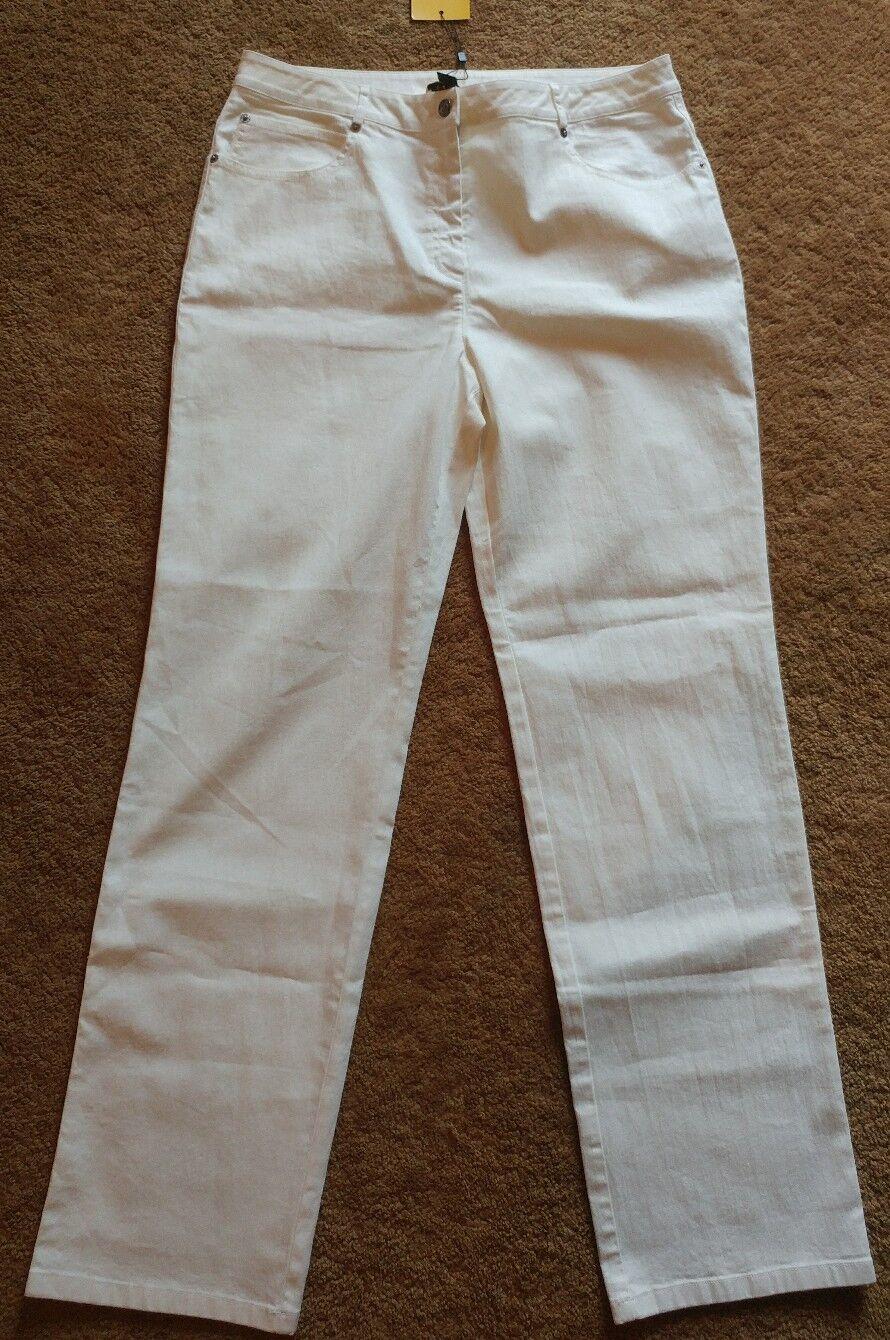 St. John Ivory Jeans Pants NWT  295 Size 14