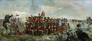 Battle-of-Waterloo-Quatre-Bras-War-CANVAS-WALL-ART-PICTURE-16X30-INCHES