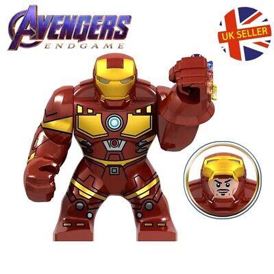 Avengers: Endgame Lego Custom Iron Man Stark Red Inifinity Gauntlet Block