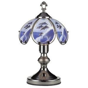 14-25-in-Insync-Jumping-Dolphin-Black-Chrome-Touch-On-Table-Lamp