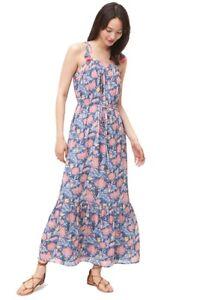 b47f770808 Women s Loft Blue Tiered Tassel Maxi Tie Dress Floral Ann L Nwt Taylor  g6q7nRxw