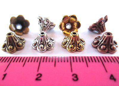 30 x tibetan style bead cap 10mm choose colour MBC1