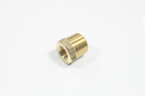 """Pack of 10 Brass Hex Pipe Bushing Reducer Fittings 1//4/"""" Male x 1//8/"""" Female NPT"""