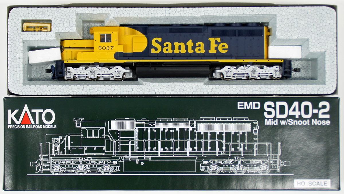 Kato 37-2908 EMD SD40-2 Snoot nariz Santa Fe  5027 (escala Ho)