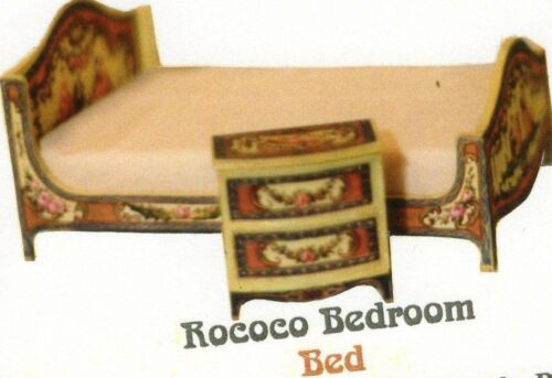 1:12 scale Natasha Beshenkovsky Mini Decoupage ROCOCO BED New in package