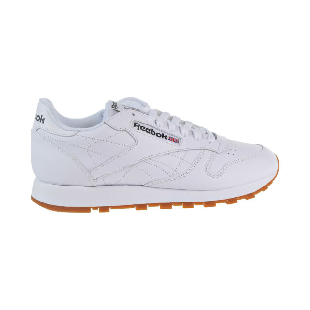 bdf4b756227 Reebok Classic Leather Gum Men s Running Shoes White 49797 Select Size 9