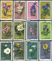 Polen 1325-1336 (kompl.Ausg.) gestempelt 1962 Pflanzen unter Naturschutz EUR 3,6