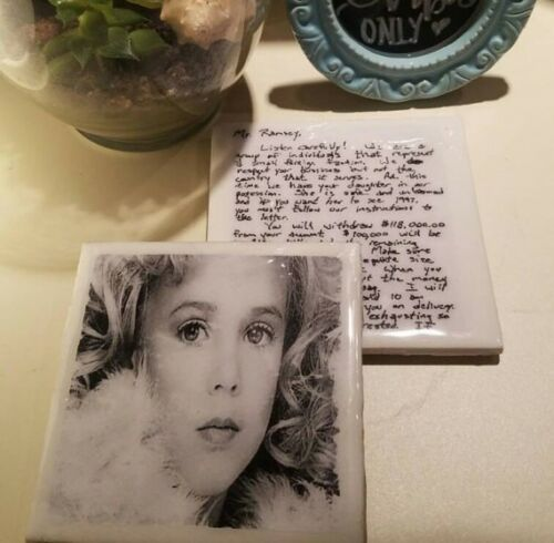 JonBenet Ramsay Coaster Collection ONE 4x4 Resin Sealed Coaster