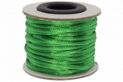 10 lfm Seidenband grün A102-3mm Ø 10 mtr. 0,53€  // 1 lfm