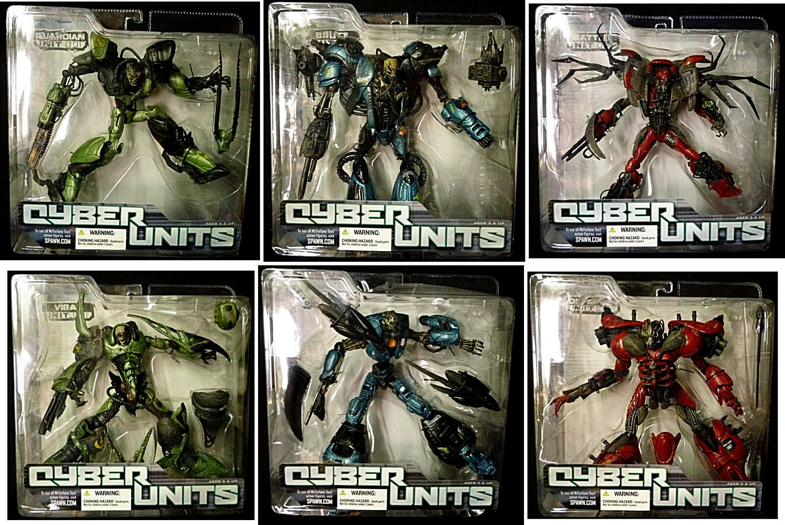 McFarlane Toys Cyber Units 6 Figure Set New 2006 Special price Amricons