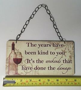 Details About The Years Have Vintage Retro Plaque Sign Friendship Birthday Gift Ideas For Her