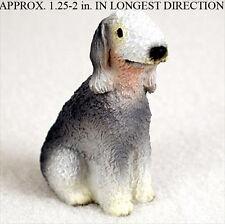 Bedlington Terrier Mini Resin Hand Painted Dog Figurine