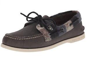 5969ce1b6f New Sperry Top-Sider A/O 2-Eye Plaid Men Boat Shoes Grey/Black ...