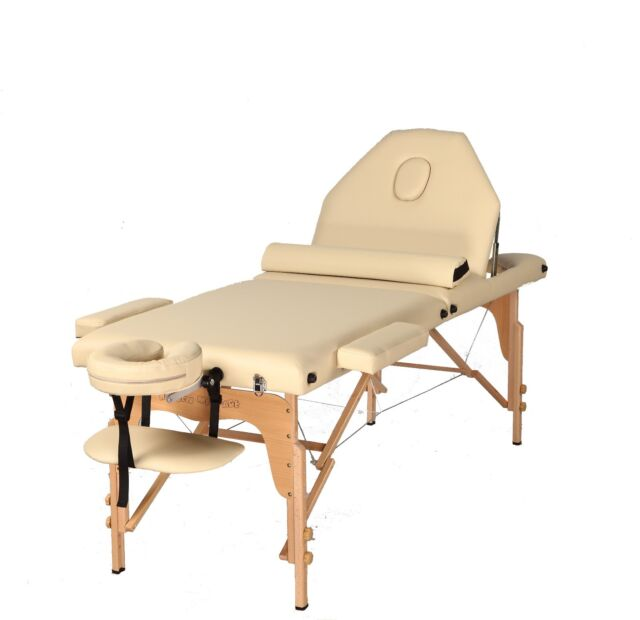 The Best Massage Table 3 Fold Cream Reiki Portable Massage Table Free Half Bolst
