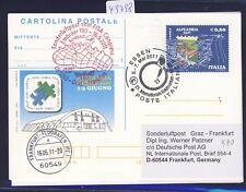 49798) LH  SF Graz - Frankfurt 16.5.2011, stat.card Italien SPA Essen