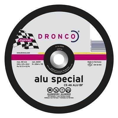 CS 60 Alu Dronco Trennscheibe 115 x 1,2 x 22,23 f/ür Aluminium Trennscheiben