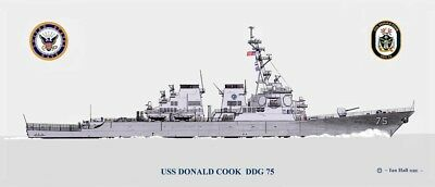 US Navy USN guided-missile destroyer USS Donald Cook D1 8X12 PHOTOGRAPH DDG 75