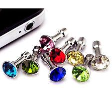 20 x Universal Diamante Mobile Phone AntiDust Plug Cap Samsung Crystal Jewel Gem