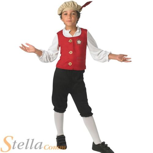 Tudor Boy Fancy Dress Costume Boys Child Book Week Victorian Outfit
