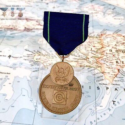 WWII U S  NAVY EXPERT PISTOL SHOT MEDAL SLOT BROOCH US MINT CONTRACT PERIOD  WW2 | eBay