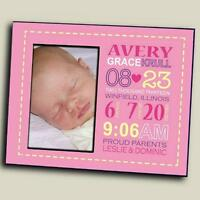 Personalized Baby Girl Birth Announcement Picture Frame Baby Photo Frame
