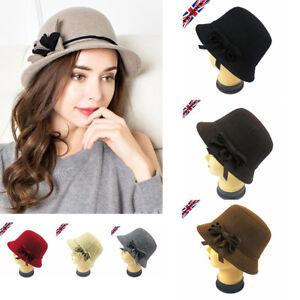 dffafd93546aea Women 20s Vintage Downton Abbey Hat Wool Blend Bucket Cloche flapper ...