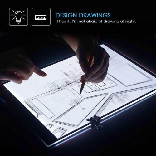 A3 Dimmable LED Tracing Light Box Board Tattoo Drawing Copy Pad Table Display
