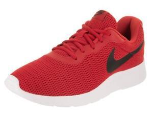 0fa97e8cd4f Nike TANJUN Mens University Red Black 812654-601 Lace Up Casual ...