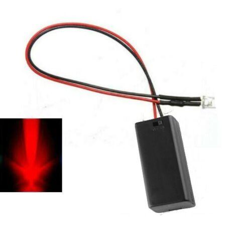 Multi Colours Test//Panel//Display LED Light Flashing 5mm LED /& Battery Box