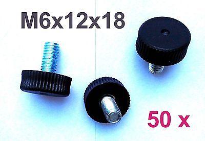 50 x M6x12x18x7 Verstellfuß Möbelfuß Stellschraube Stellteller Stellfuß