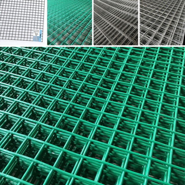 WIRE MESH PANEL FENCING GALVANISED PVC COATED SQUARE RECTANGULAR SHEET GARDEN