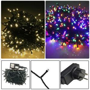 Weihnachtsbeleuchtung Bunt.Details Zu 800 Led Warm Bunt Led Lichterkette Deko Weihnachtsbeleuchtung Außen 8 Modus Ip44