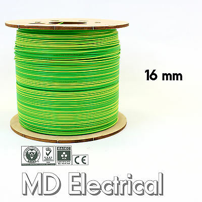 5m x 16mm sq Earth Cable Green /& Yellow 6491X Singles Bonding /& Earthing