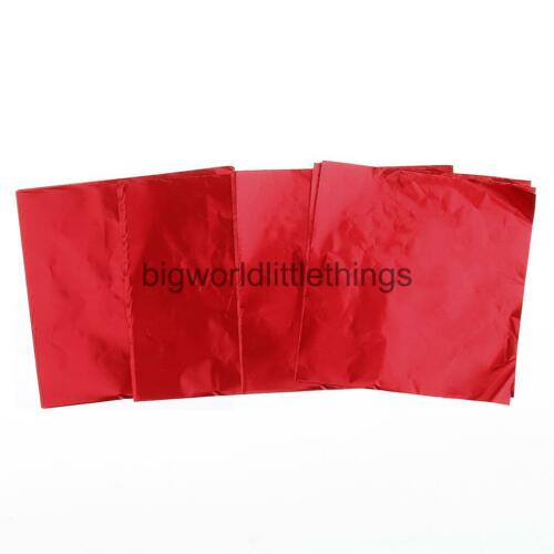 100pcs Square Foil Paper Wrapping for Sweets Candy Chocolate Lolly Wedding Art