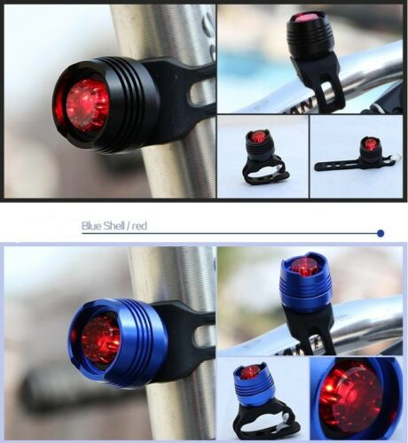 1 Pack Bike Bicycle Red LED Rear Light 3 modes Waterproof Tail Lamp US Seller