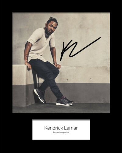 KENDRICK LAMAR #1 Signed 10x8 Mounted Photo Print REPRINT FREE DELIVERY
