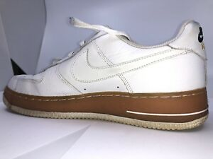 check out 788ed 43073 Nike Air Force 1 low white/brown Size 10 US Men's | eBay