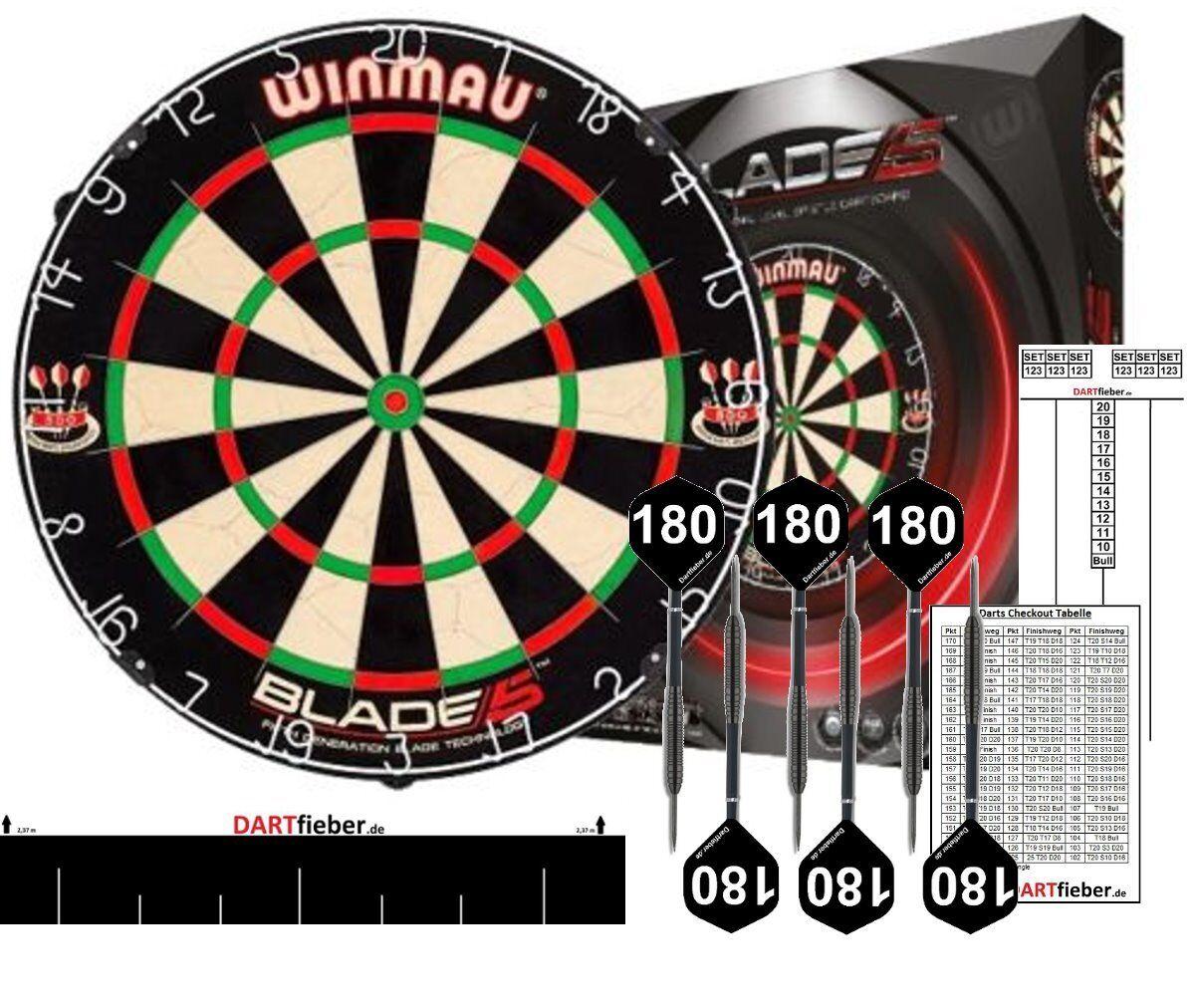 Starter-Set Dartboard WINMAU Blade 5 Bristle Board  + Zubehör