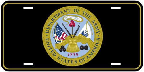 Army US Military Black Aluminum Novelty Car Auto License Plate A1