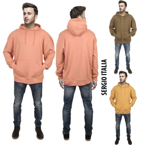 Mens Baggy Oversize Pullover Hooded Hoodie SEGIO ITALIA Sweatshirt Top S  L M XL