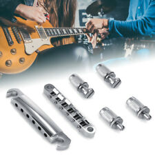 lotmusic A0086Lotmusic 1set ABR-1 Style Tune-o-matic Bridge /& Tailpiece Chrome for Gibson Les Paul Gear Replacement