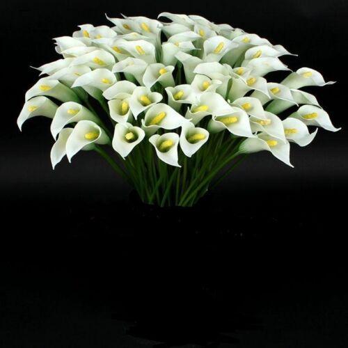 3 x Calla blanc soie FLEURS-FLEURS ARTIFICIELLES-DECO
