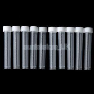 10x 10ml Plastic Test Tubes Vial Screw Cap Container Storage Craft